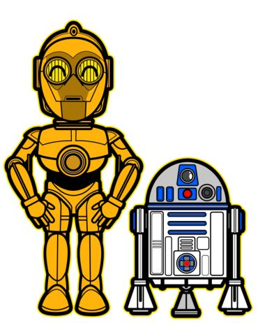 C3PO e R2D2 Kawaii