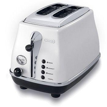 Toaster pentru doua felii Icona Alb DeLonghi CTO 2003 W