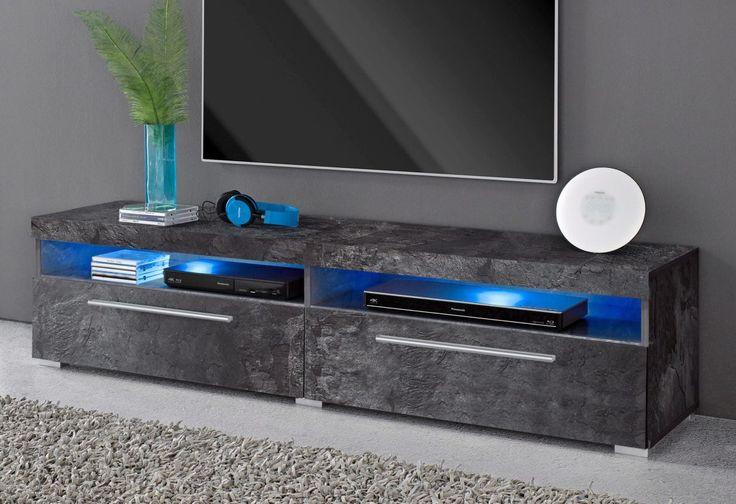 Lowboard schwarz, pflegeleichte Oberfläche, FSC®-zertifiziert, yourhome   Wohnzimmer > Schränke > Lowboards   Weiß - Matt   yourhome