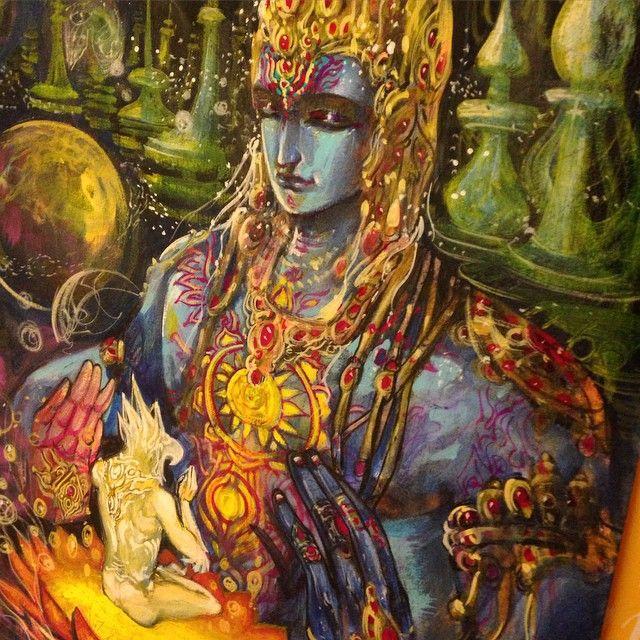 "The Garuda purana mentions the famed ""Amrit"" not as a drink for immortality but rather knowledge of prana, the cosmic yoga of Gods. #mythology#vishnu#krishna#garuda#yoga#yogic#cosmos#universe#light#spiritual"