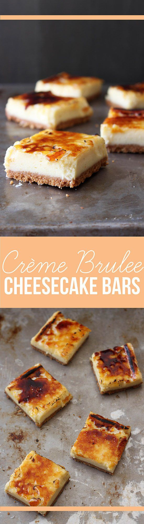Creme Brulee Cheesecake Bars are a delicious twist on the classic French dessert!
