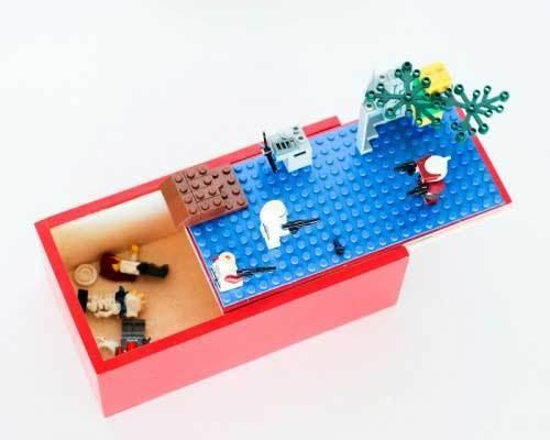 DIY Lego storage sliding box - Great for traveling!