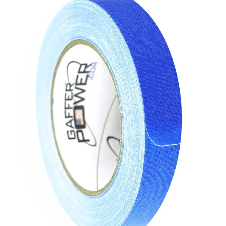 Gaffer Power Gaffer Tape, Made in the USA, ELECTRIC BLUE- 1 Inch X 30 Yards,