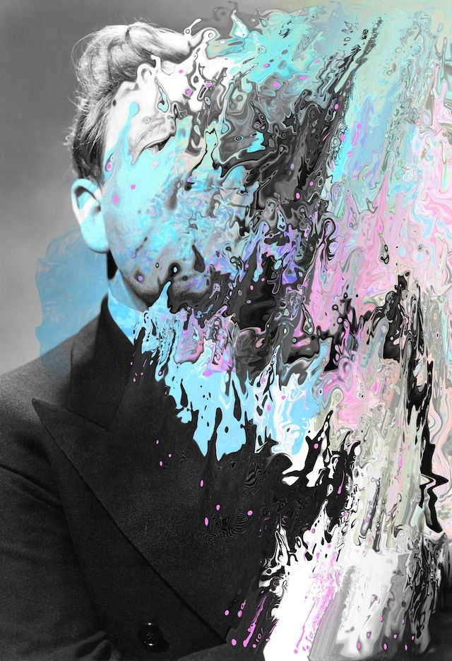 Psychedelic Portraits by Tyler Spangler-15 Love that Bacon!