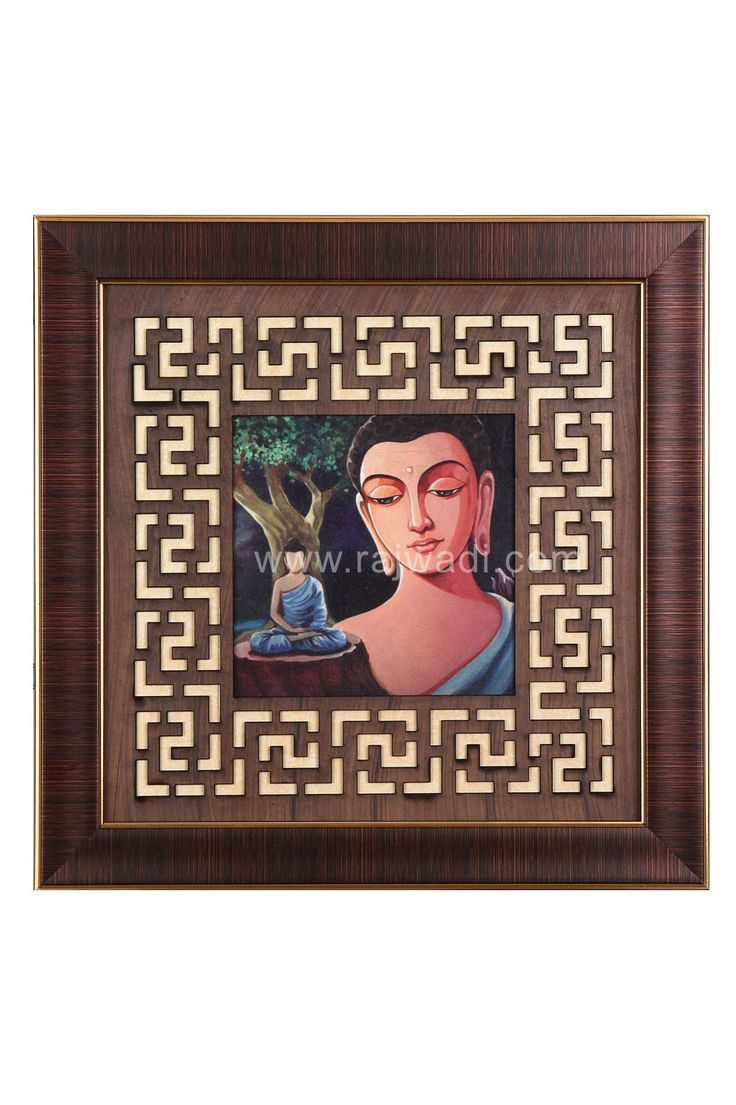 Multicoloured Buddha Framed Wall Painting