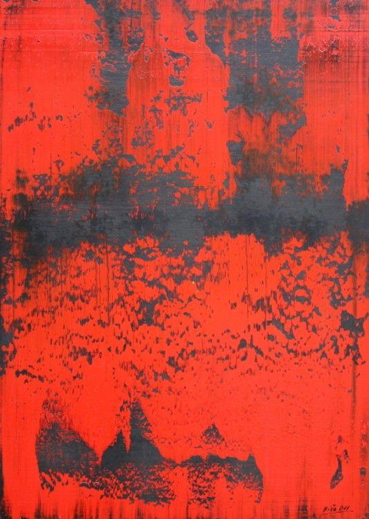 064. Variácie v červenom,2011, olej,sololit, 99x70cm.jpg