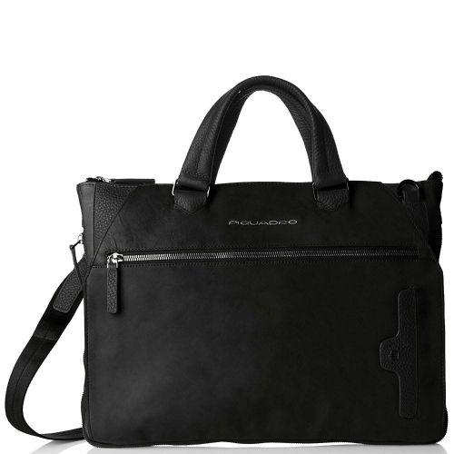 Piquadro Phoenix Werktassen Zwart 71866.400 | van Os tassen en koffers