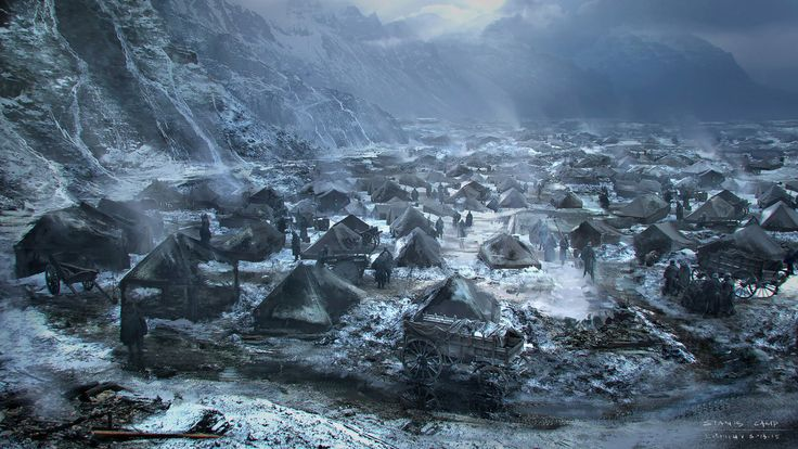 Game of Thrones (GOT) example #448: Stunning Concept Artworks of the Stannis March, Battle and After War Scenes at the Game of Throne...