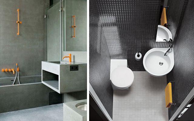 Baño Visita Bajo Escalera:Pautas para la decoración de baños pequeños