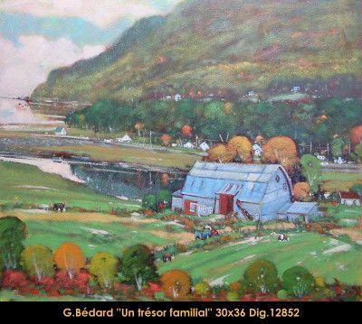 Original mixed media painting on canevas by Gilles Bedard #GillesBedard #artist #art #mixmediapainting #artist #originalpainting #fineart #canadianartist #quebecartist #summer #farm #shadows #light #multiart #balcondart