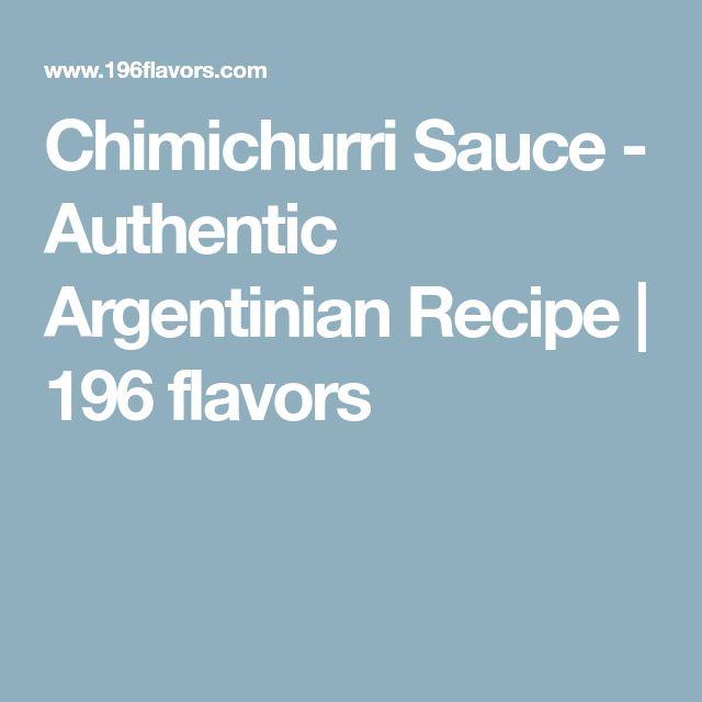Chimichurri Sauce - Authentic Argentinian Recipe   196 flavors
