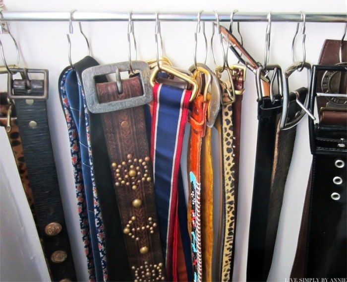 Madrona Master Closet Organization: DIY Belt Hanger // Live Simply by Annie