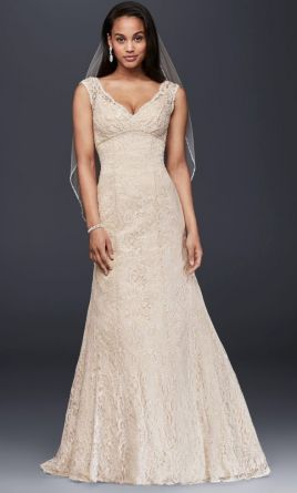 David's Bridal 13011145 wedding dress currently for sale at 41% off retail.