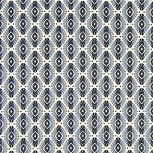 Twill Motif Bk Indigo Contemporary Drapery Fabric by Robert Allen - SW50618-Swatch - Fabric By The Yard At Discount Prices