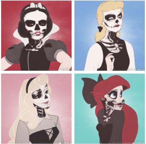 Disney Punk Rock -Squelette Princess