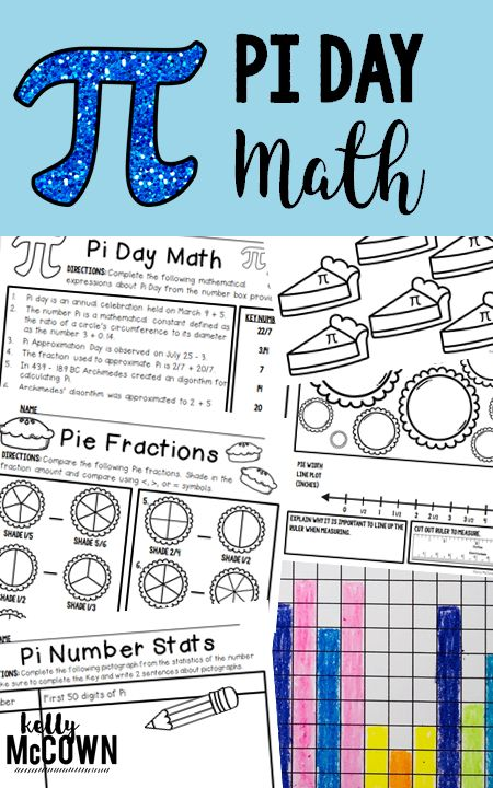 Pi Day Math Activities for Upper Elementary. Grades 3, 4, 5 engaged in Pi Day Math addition, subtraction, multiplication, measurement, data, statistics, graphing, pictographs, line plots, and more!
