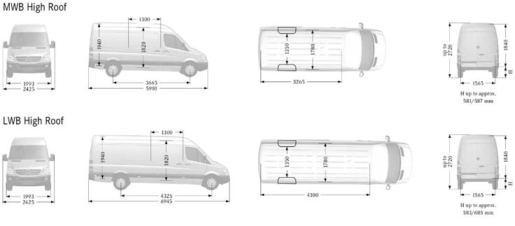Dimensions Of A Ford Transit Mwb Van Google Search Van
