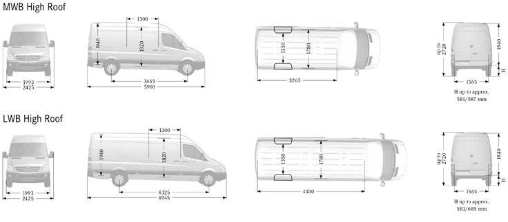 dimensions of a ford transit mwb van - Google Search | Van ...