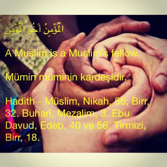 الْمُؤْمِنُ أَخُو الْمُؤْمِنِ A Muslim is a Muslim's fellow. Mümin müminin kardeşidir. Hadith - Müslim, Nikah, 56; Birr, 32. Buhari, Mezalim, 3. Ebu Davud, Edeb, 40 ve 56. Tirmizi, Birr, 18. #hadith #hadeeth #quran #kuran #hadis #kuranıkerim #salavat #islam #muslim #Allah #HzMuhammed #TheQuran #TheProphetMuhammed #TheHolyQuran #invitationtoislam #islamadavet