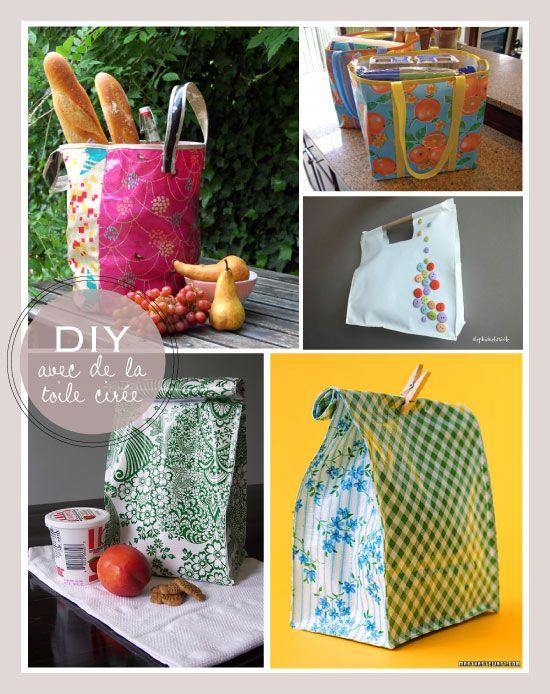 DIY des idées en toile cirée (les lunchbags !)