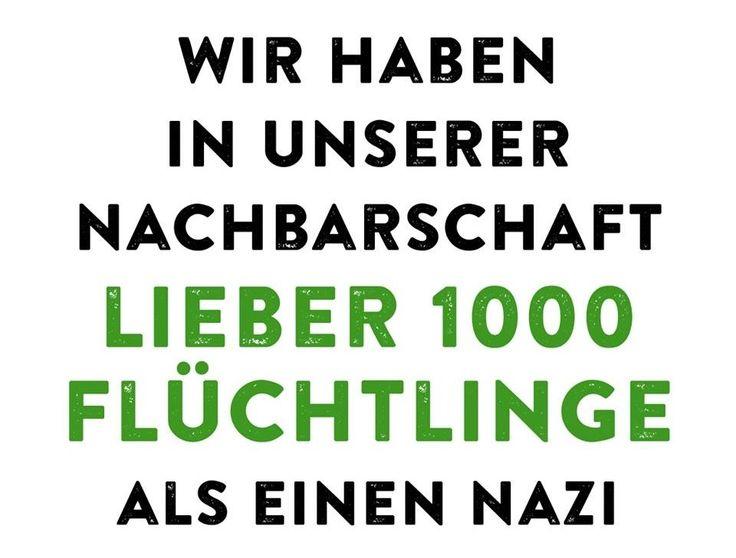 #flüchtlinge vs. nazis                                                                                                                                                      Mehr
