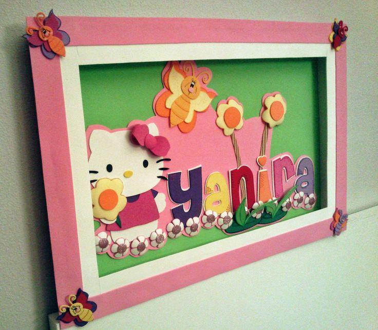 Cuadro Hello Kitty / Goma EVA / Craft Foam , A Mano / Handmade
