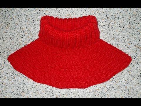 Манишка круглая крючком - 1 часть - Dickey crochet