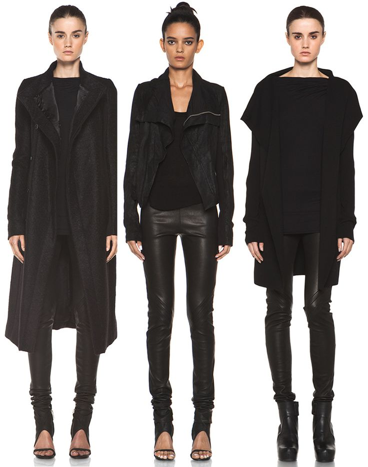 Rick Owens from Forward By Elyse Walker Winter 13. (Everything in this picture is perfect) ALL BLACK