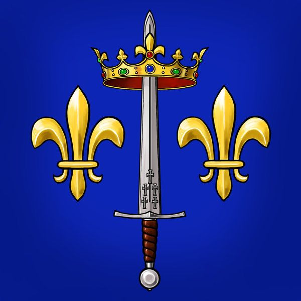 Joan of Arc heraldry by dashinvaine on DeviantArt