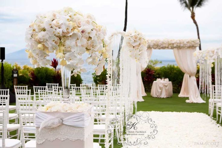 Four Seasons Maui at Wailea ceremony on Ocean front lawn