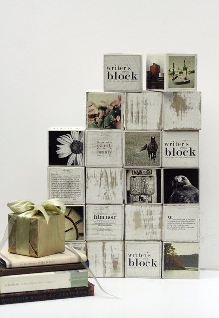 Writer's Block - Photo Story Cube for Creative Inspiration (9 Blocks) - Unique Gift Idea. $155.00, via Etsy.