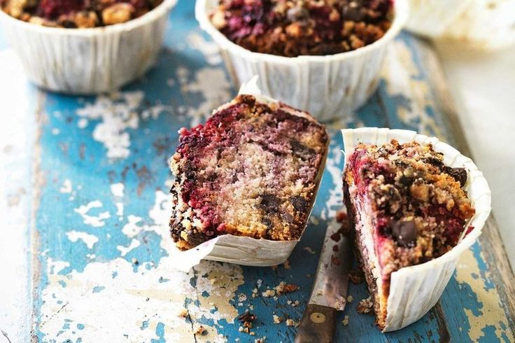 For those of you who are looking for a guilt-free, gluten-free snack in between meals or pre-exercise, go no further than these choc raspberry muffins.  This is an edited extract from Surfing the Menu – Next Generation by Dan Churchill and Hayden Quinn (Published by Simon & Schuster, $49.99), and is available in bookshops nationally.