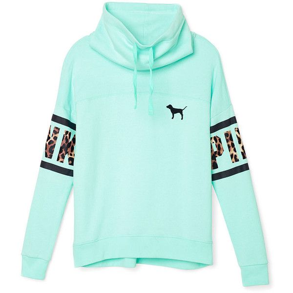 PINK High-Neck Pullover ($80) u2764 liked on Polyvore featuring ...