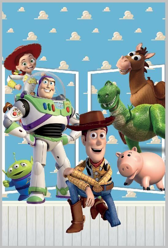558ad237ff817 5x7FT Toys Story Sheriff Woody Lightyear Buzz Jessie Rex Clouds Ken  Photography Backdrop Studio Background Vinyl 150cm x 220cm-in Background  from Consumer ...