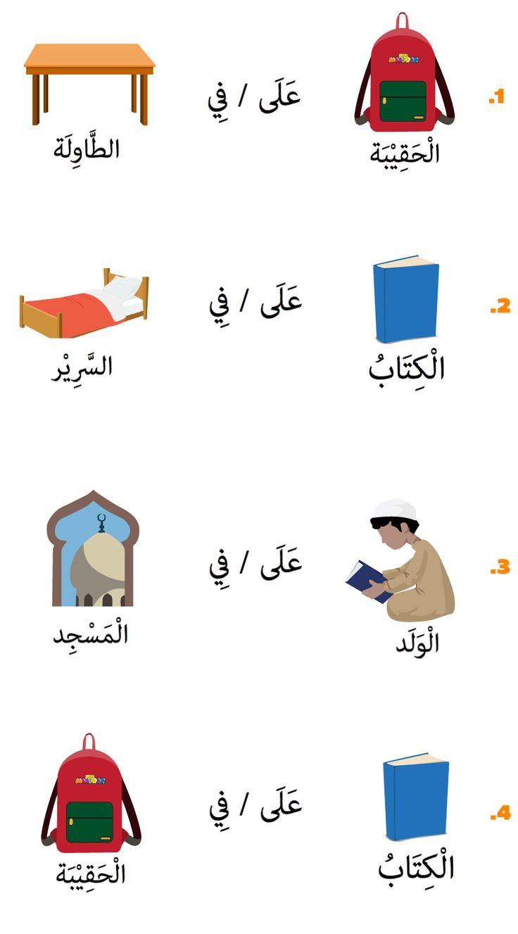 في وعلى في اللغة العربية in and on in Arabic