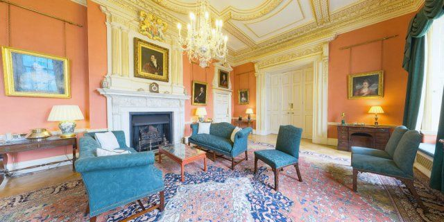 10 Downing Street The Terracotta Room Blue Rooms Walls Room Green Rooms
