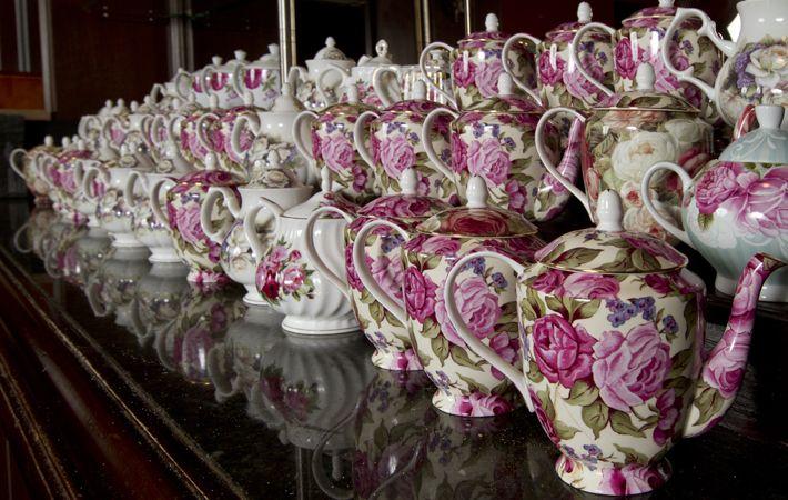 High tea in the Library Bar, the Fairmont Royal York Hotel