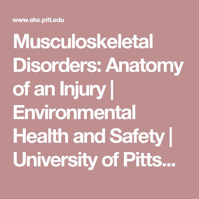 musculoskeletal disorder among university students The relation between risk factors and musculoskeletal impairment in dental students: a preliminary study musculoskeletal disorders are common among dentists, 80% of the measurement results using the instrument of body discomfort map and brief survey in faculty of dentistry university of indonesia (fkg ui) showed that musculoskeletal disorders.