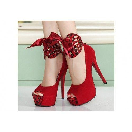 Red Leopard Print Platform Shoes
