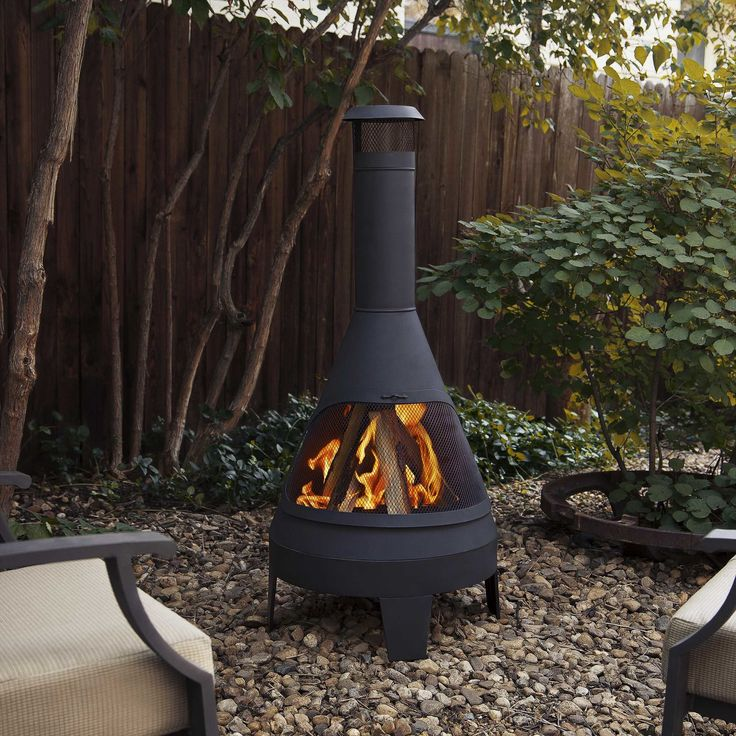 Steel Camber Chiminea | Outdoor fire, Outdoor fire pit ... on Backyard Chiminea Ideas id=19496