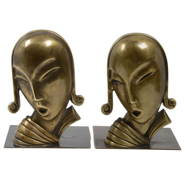 Bookends by Carl-Einar Borgström for Ystad Metall Art Deco 1930's Swedish | From a unique collection of antique and modern bookends at https://www.1stdibs.com/furniture/more-furniture-collectibles/bookends/