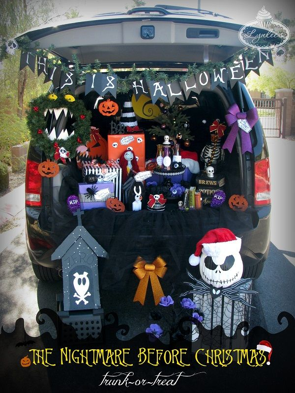 The Nightmare Before Christmas Halloween trunk-or-treat ideas ~ Lynlee's