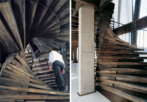A deconstructable staircase created by architect Alberto Mozo.