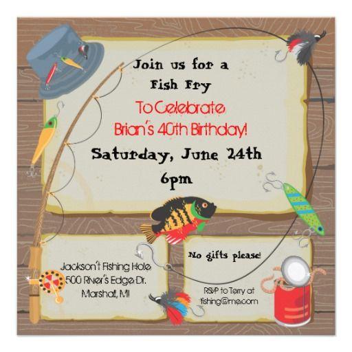 Fish Fry Party Invitations | Fishing Party Invitation
