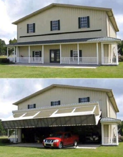 This Is A Garage That Looks Like The Back Of A House/barn Until The Door  Opens. And Then, Oh Man, Itu0027s Clearly A Garage. Usually, Dream Garages  Never Become ...