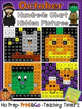 *NO PREP-PRINT & GO* Trick or Treat!!! These hundreds chart hidden pictures are a great addition to this wonderful holiday season. Great for a math lesson. Use it in a learning center or in a whole group lesson.------------------------------------------------------------------------------------------Page 1: Cover pagePage 2: Candy Corn answer keyPage 3: Owl answer keyPage 4: Pumpkin answer keyPage 5: Frankenstein answer keyPage 6: Candy CornPage 7: OwlPage 8: PumpkinPage 9: FrankensteinP...