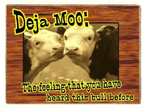 Country Cow Gifts Funny Western Deja Moo Refrigerator Magnet: Home & Kitchen: Amazon.com