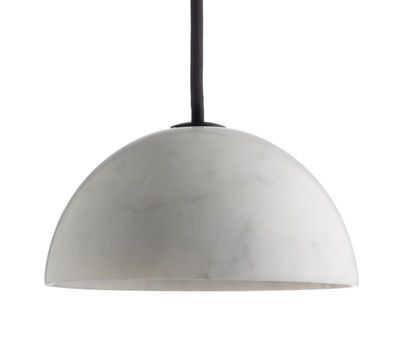 Marbre Pendant - Ø 13,5 x H 6,5 cm White marble by wrong.london - Design furniture and decoration with Made in Design