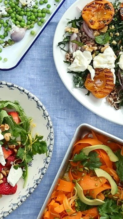 Spruce up your holiday weekend with four colorful salads loaded with fruits, vegetables and so much more.