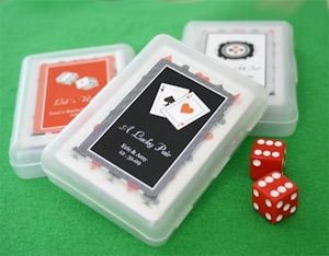 Lucky Pair Vegas Themed Playing Card Favors from Wedding Favors Unlimited